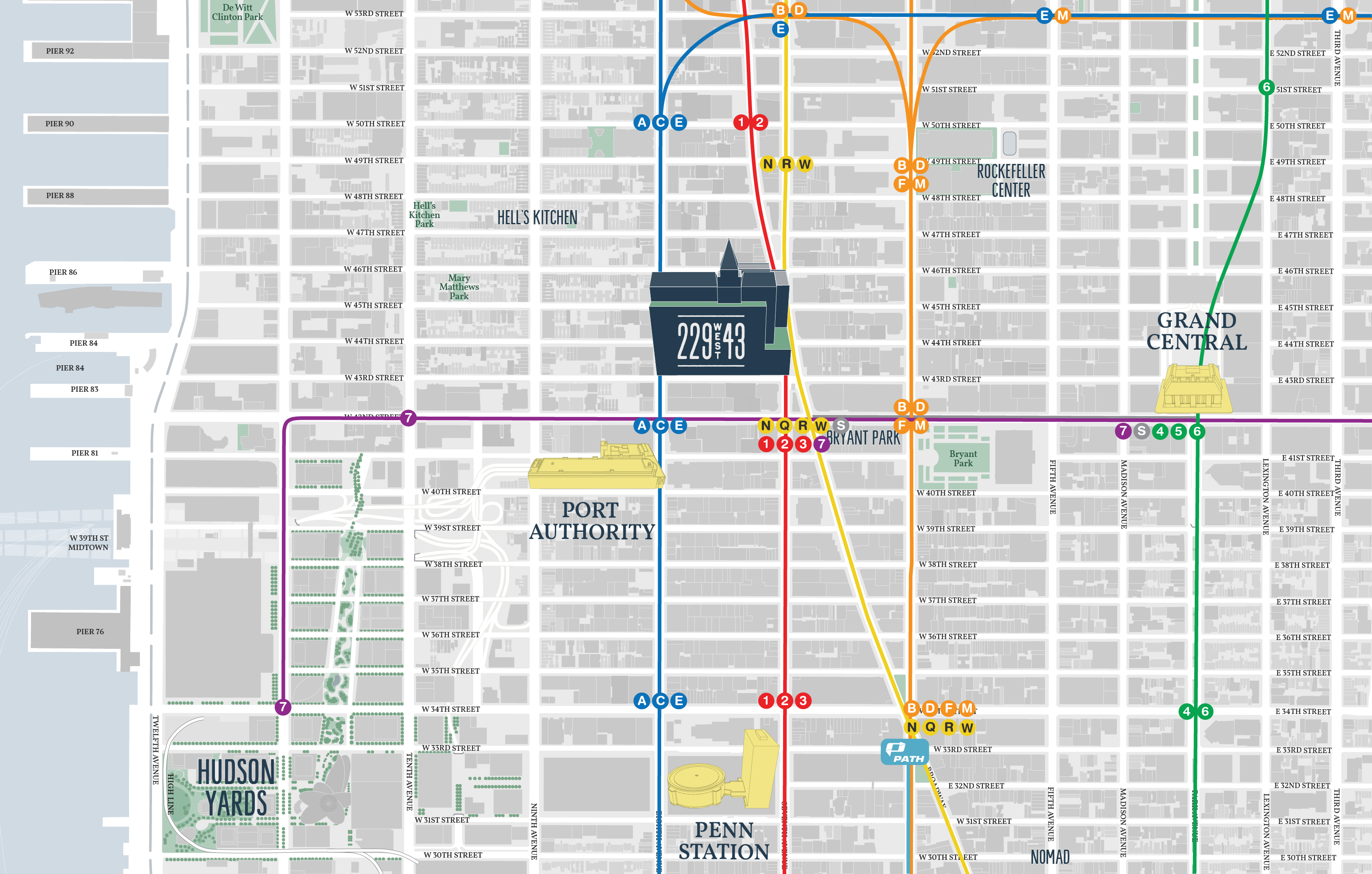 What Doy Calle The Thing That Has The Subway Map.Transit 229 West 43